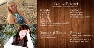 Family Price Sheet