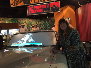 Marty with car at HH exhibit