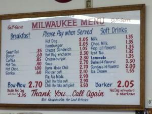 Milwaukee Menu