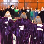 Choir members and alumni partake in the choral tradition of singing the Morningside hymn together after every concert. The hymn is often a tearful event.