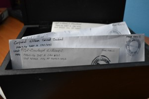 I love checking the mailbox for dusty letters from Afghanistan.
