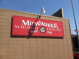 Exterior Signage for the Milwaukee Wiener House