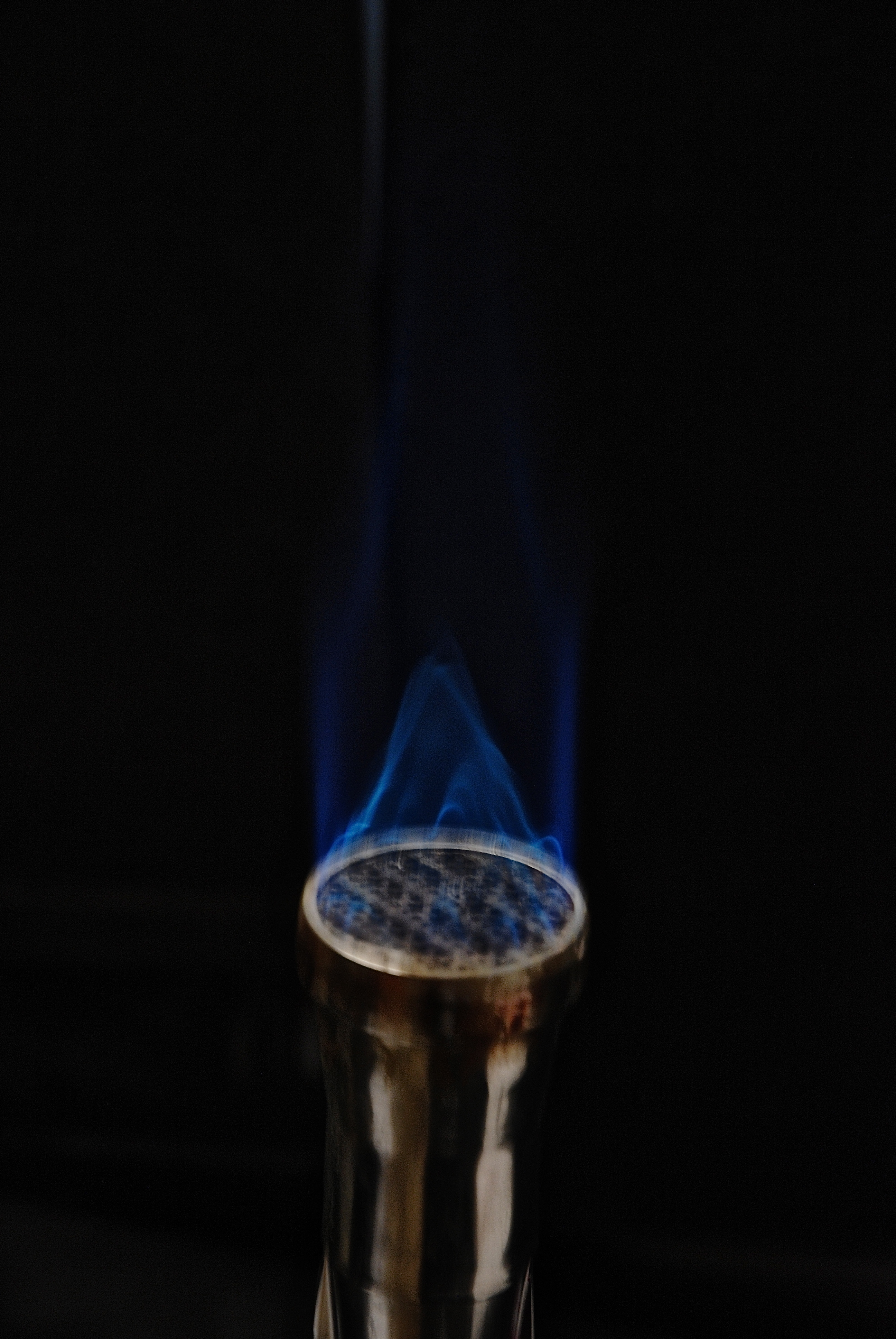 The heat from the Bunsen burner keeps germs from contaminating the open plates and test tubes being used around it.