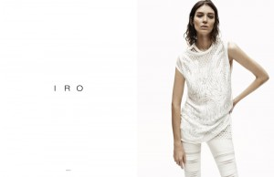 Kati Nescher: Model for clothing brand IRO
