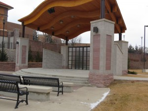 The Buhler Outdoor Performance Center is utilized for various plays throughout the spring and summer months.