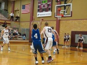 Morningside College men's basketball team played a close game Wednesday, January 30th, against Dakota Wesleyan.