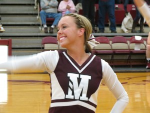 Kelsie Pomerenke loves to cheer on Morningside athletic teams.