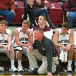 Head coach Jim Sykes in his element at the game against Dakota Wesleyan.