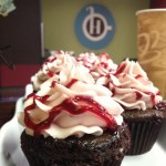 Come into Habitue Coffeehouse and Creperie today and try our new dark chocolate raspberry cupcakes.