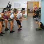 Cat Cogliandro, choreographer at Broadway Dance Center, teaches The Dance Studio's senior company a lyrical routine.