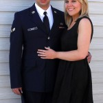 "Snyder and girlfriend before Military Ball. ""Being in the military isn't just camo and boots. There are actually some formal events throughout the year for socializing."""