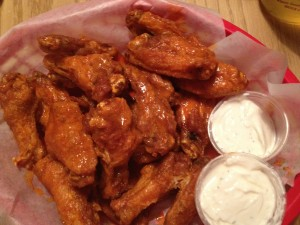 Hot wings and sour cream ranch