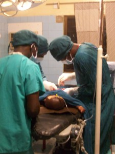 During surgery