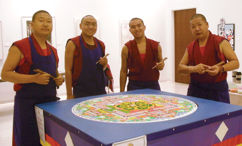 Monks impart peace, wisdom