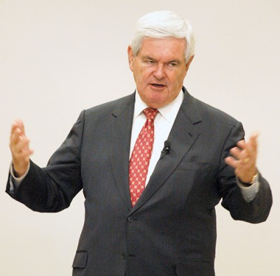 Newt Gingrich visits Morningside