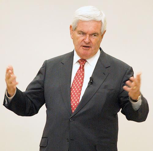 Newt Gingrich visits Morningside