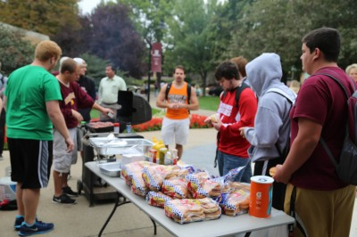 Residence Life Blasts Barriers with Hamburgers