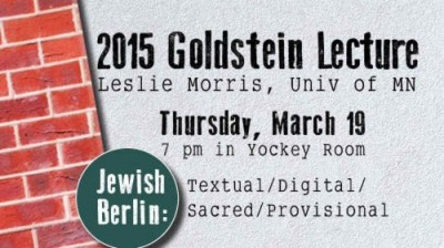 The Goldstein Lecture