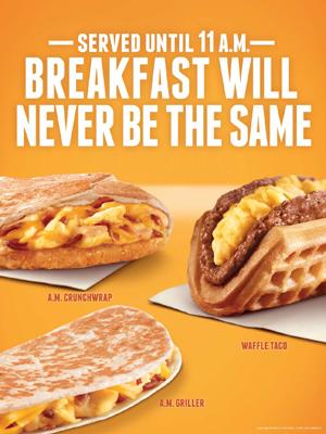 """Taco Bell Offers Breakfast """"Outside the Bun"""""""