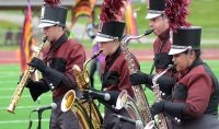 Marching Mustang group sax