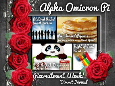 Alpha Omicron Pi Announces Spring Recruitment Plans