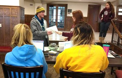 Icy Conditions for Spring Semester Check-In