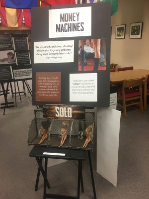 Human Trafficking Traveling Displayed in the Library