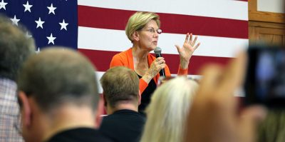 Warren describes plans to clean up government