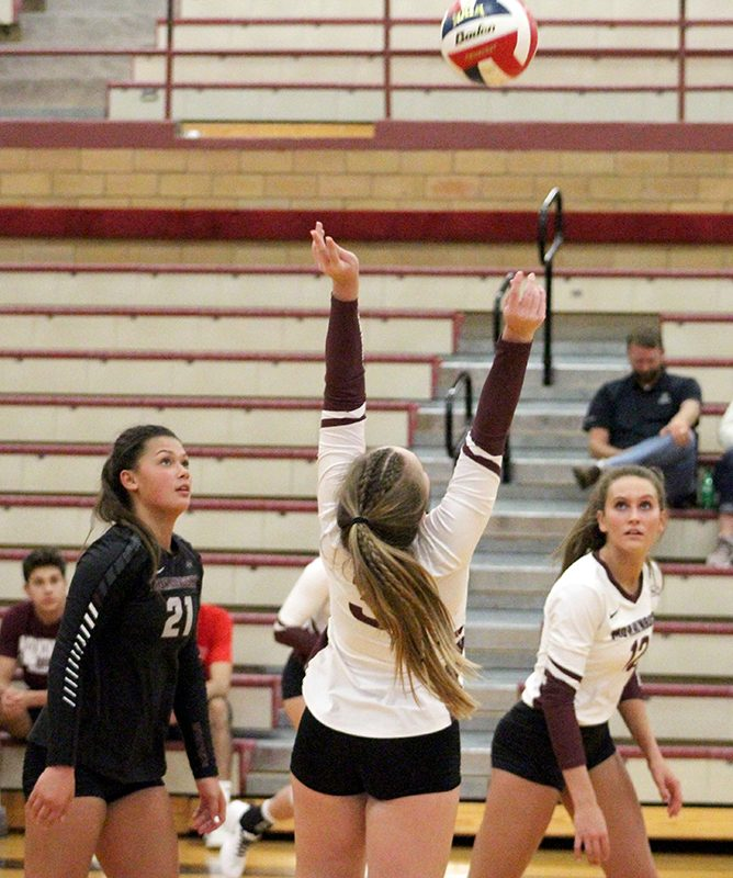Mustang volleyball sweeps Dakota State (photos)