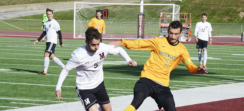 Soccer sweeps Saints
