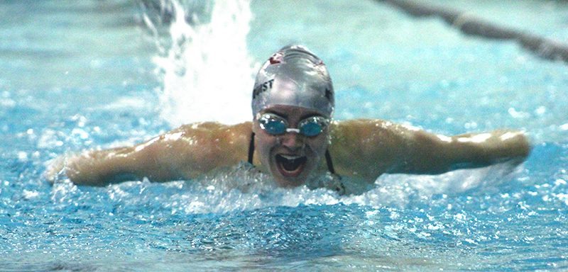 Mustang swimmers take on tough competition (photos)