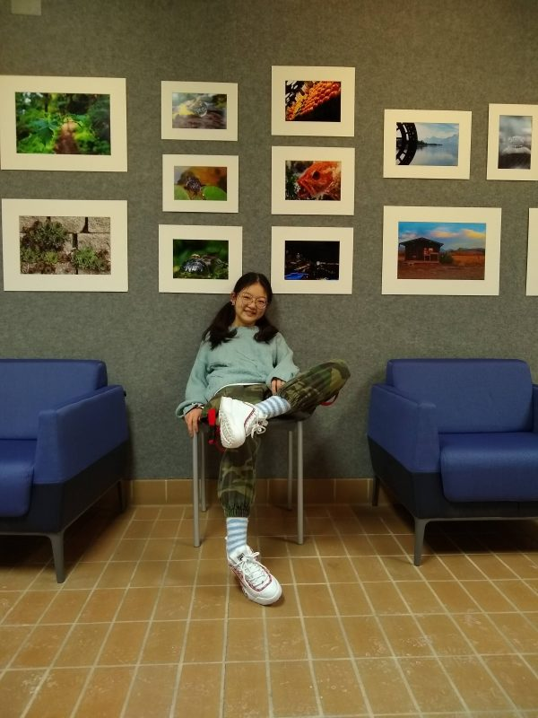 Student's art brightens up campus library