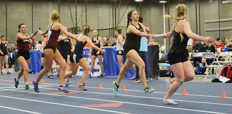 Track teams compete at GPAC indoor meet