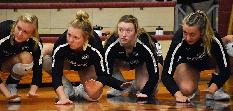 Mustang volleyball fall to Jimmies