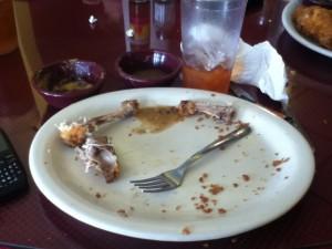red bones clean plate